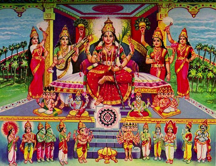 Lalita Tripura Sundari And Sri Chakra Puja