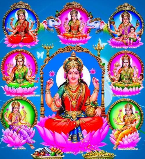 goddess ashta lakshmi