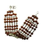 Designer Rudraksha and Pearl Bracelet in Silver
