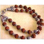 Rudraksha Double Bracelet in Silver