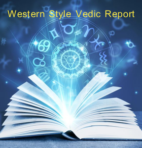 Western Style Vedic Horoscope Report Readings