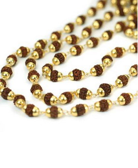 Rudrani Mala (Gold Capped)